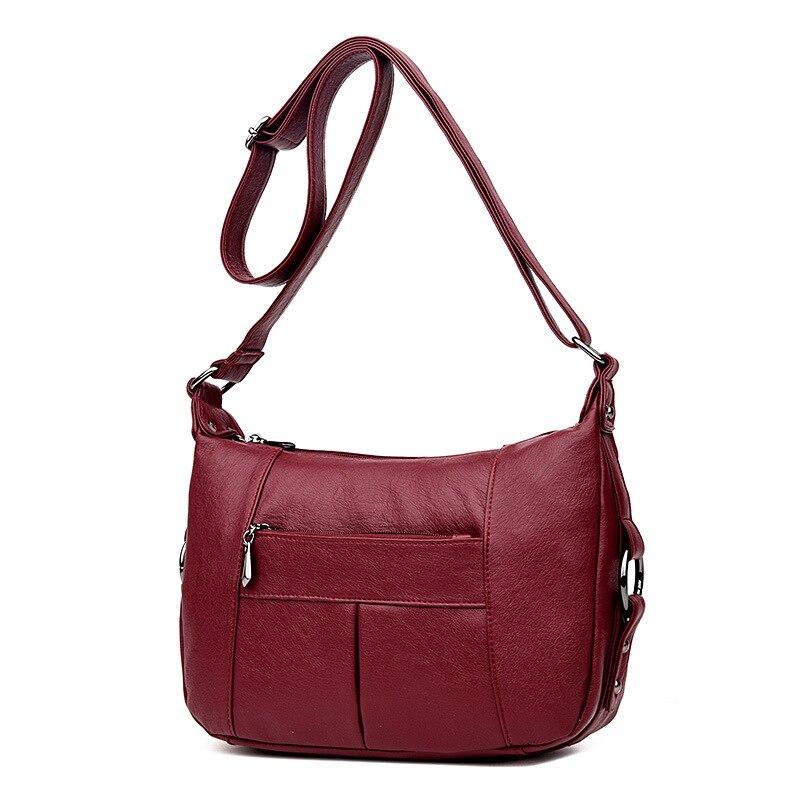 Women\'S Genuine Leather Handbags All-Match Shoulder Crossbody Bags Ladies Messenger Bag Small Women Bags