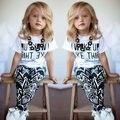 2015 Caliente de los Bebés de La Raya Me Desperté Como Este Niño camisa + Pantalones 2 Unids Trajes Set REINO UNIDO