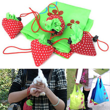 New Random Color 1 Piece Storage Handbag Strawberry Foldable Shopping Bags Beautiful Reusable Bag High Quality Hot Sale 2017 one piece new valuable 2016 deli 0399 210 pages thick stapler hot sale random color delivery