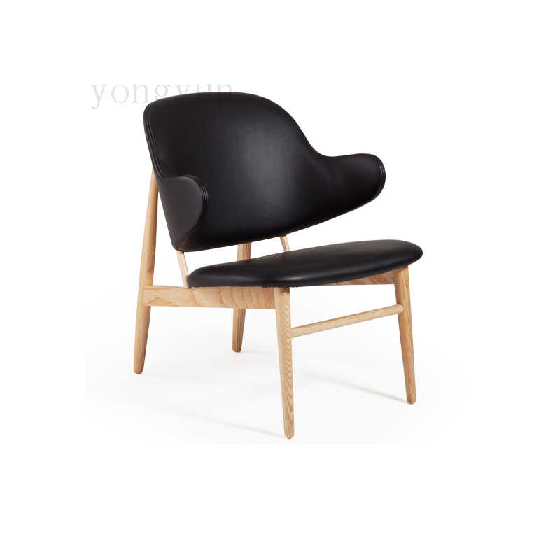 Design Wood Minimalist Modern Dining Chair Recreational Chair Fashion The Sitting Room Receive A Visitor Sofa
