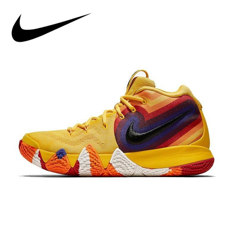 Original Authentic NIKE Kyrie 4 Original Mens Basketball Shoes Sneakers Outdoor Sport Designer Brand Jogging Walking 943807-700