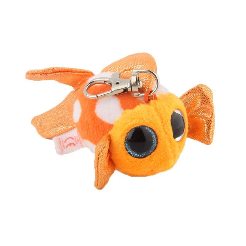 Ty Beanie Боос большие глаза Плюшевые Золотая Рыбка брелок игрушка кукла TY подарок для маленьких детей