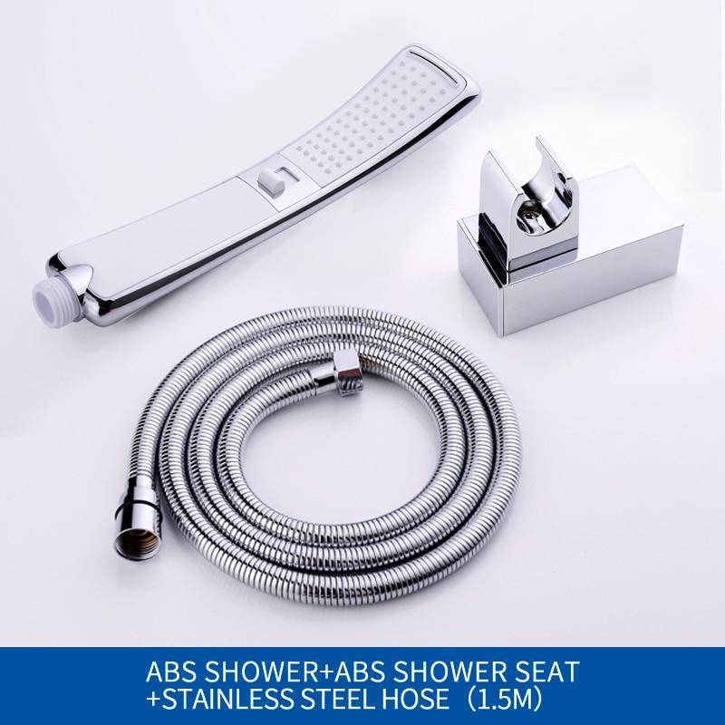 Водопад, 2 функции, ручная душевая головка, высокое давление, дождевой Душ, опрыскиватель, набор, экономия воды, дизайн - Цвет: Whole Set