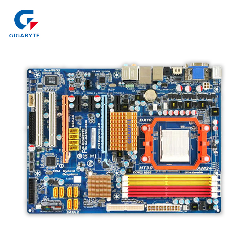 купить Gigabyte GA-MA78G-DS3H Original Used Desktop Motherboard MA78G-DS3H 780G Socket AM2 DDR2 SATA2 USB2.0 ATX недорого
