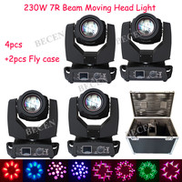 4pcs 230W 7R beam moving head light with 2pcs fly case use for party disco stage club Shipping from Spian
