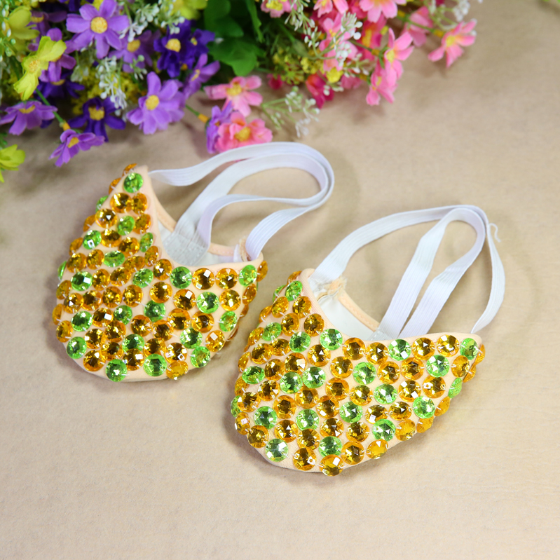 Belly Dance Shoes Beaded Shoes Half Belly Dance Shoes Kungfu Soft Gymnastics Dance Shoes