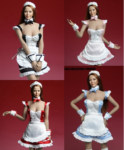 1:6 Scale Female Figure Accessory sexy Maid uniform dress shoes set for 12 Action figure doll,not include head;body and other new sexy vs045 1 6 black and white striped sweather stockings shoes clothing set for 12 female bodys dolls