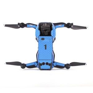Image 3 - עמיד למים PVC פחמן תבואה גרפי מדבקות מלא סט עור מדבקות לdji MAVIC אוויר Drone גוף & זרוע & סוללה & בקר