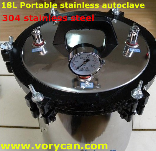 18Liters advanced XFS-280a 304 stainless steel portable autoclave sterilizer sterilization Pressure-cooker free shipping 220v 600w 1 2l portable multi cooker mini electric hot pot stainless steel inner electric cooker with steam lattice for students