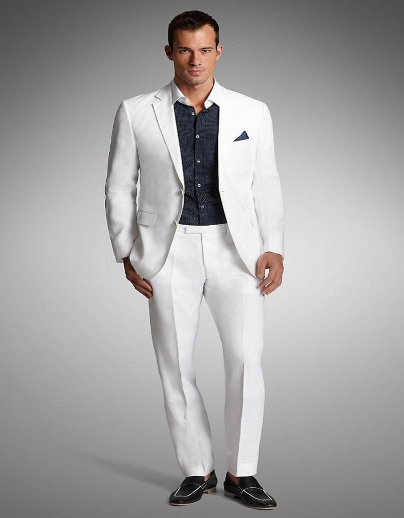 Buy summer notched lapel tuxedos 2017 for Mens ivory dress shirt wedding