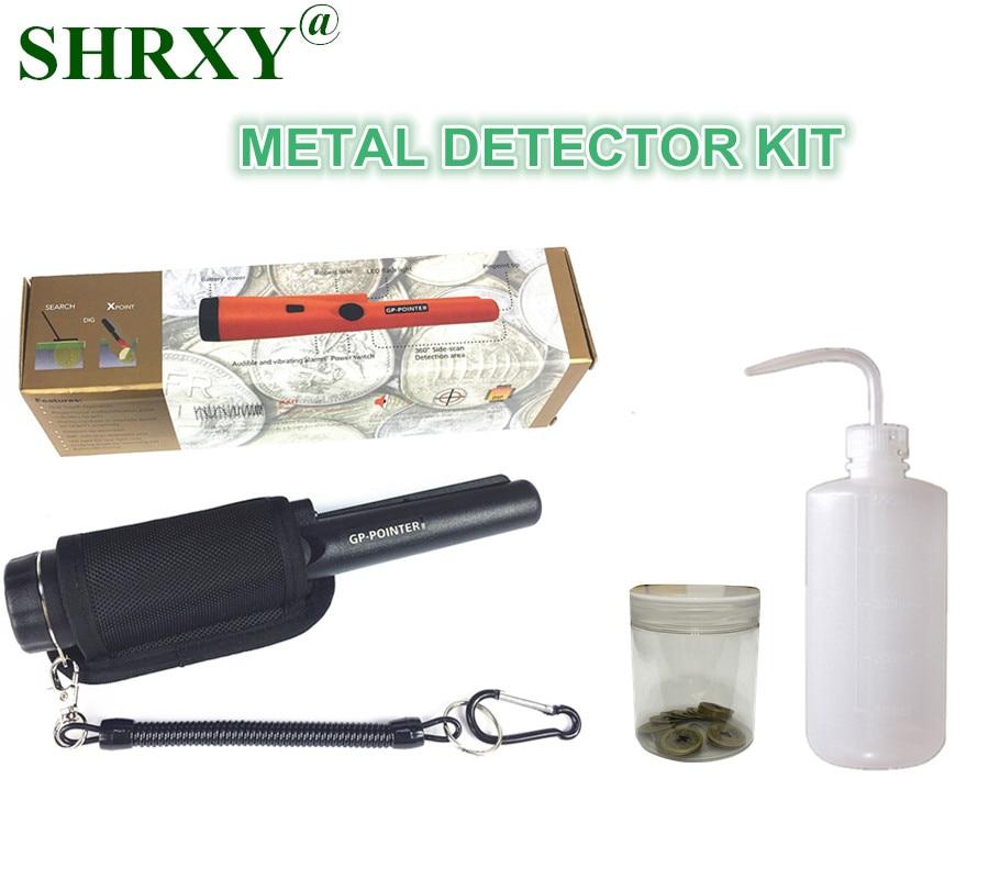 все цены на 2017 NEW Sensitive Garrett Metal Detector Same Style Pro Pointer Pinpointing Hand Held Metal Detector with Wash Bottles Kit