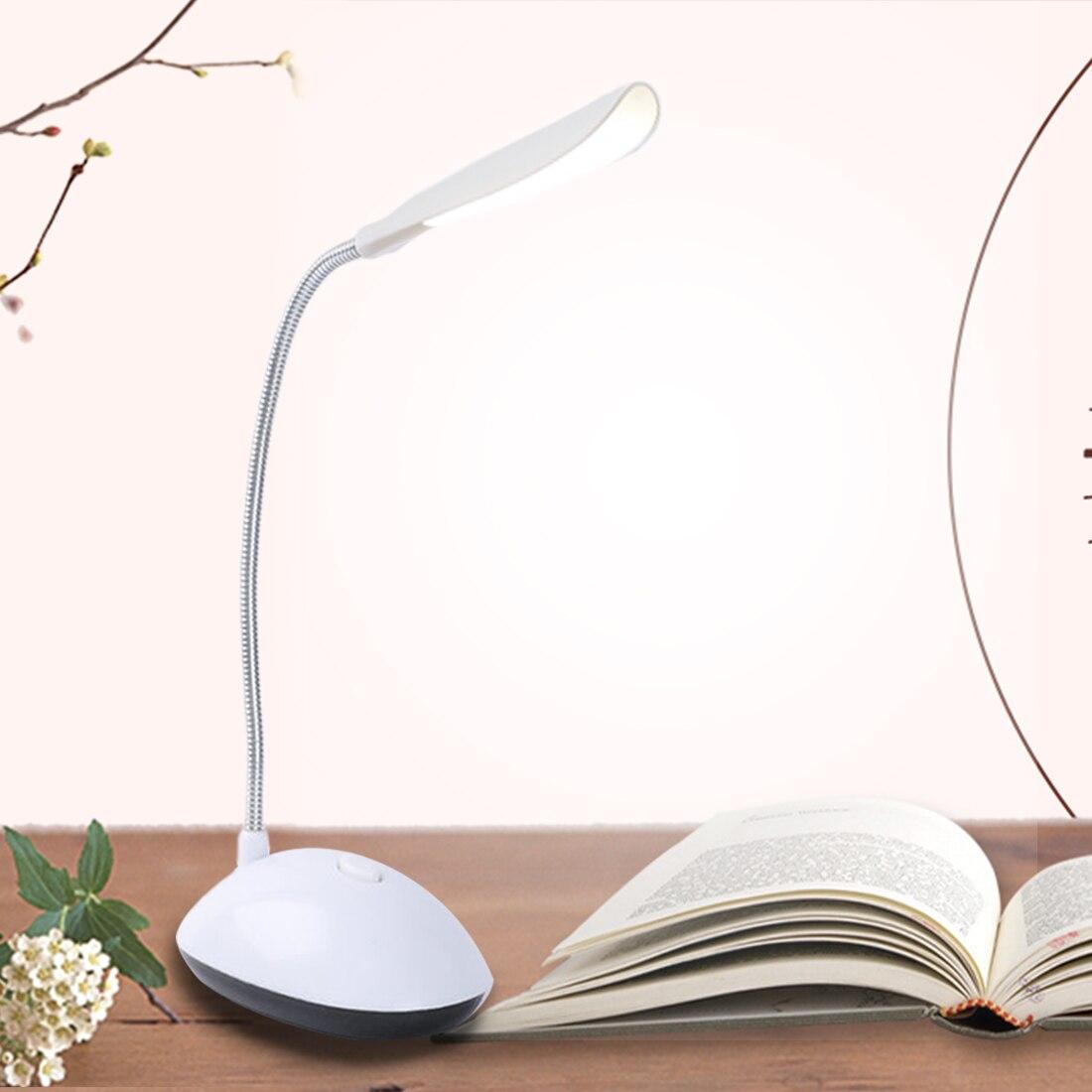 Portable 4 LED Reading Eye Protection LED Desk Lamp Power Mini Flexible Battery Powered LED Foldable Table Light Lamp For Study