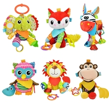 Crib Hanging Toys For Babies Soft Animals Giraffe Rattle Bell Stroller Toys For Kids Teether Early Learning Education Color Toys