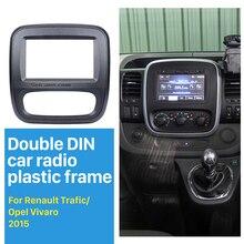 Seicane 2Din автомобилей Радио Фризовая для 2015 до Renault Trafic Opel Vivaro DVD Панель Даш Комплект Авто Стерео Установка приборной панели панель