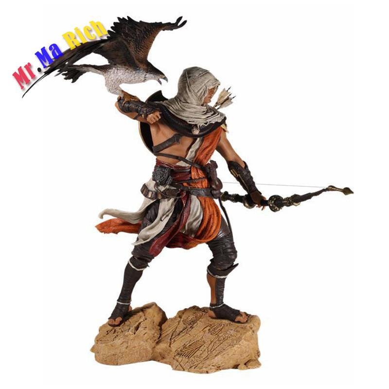 28cm Assassins Creed Bayek Action Figure 1/6 Scale Figure Origins Baye Pvc Action Figure Toy No Retail assassins creed origins aya pvc figure collectible model toy 22cm