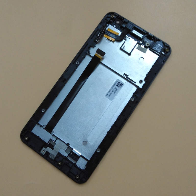 For Asus Zenfone 5 Lite A502CG Touch Screen Digitizer Panel Sensor Glass + LCD Display Monitor Screen Panel Assembly + Frame