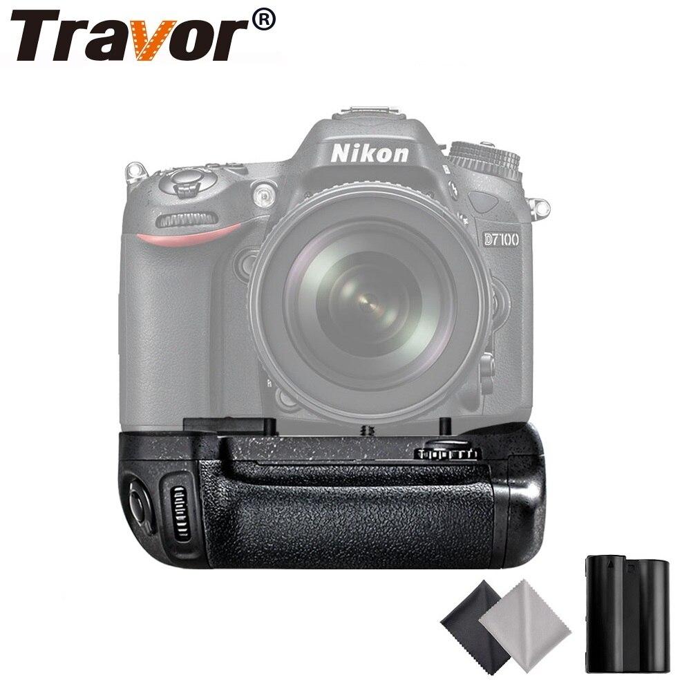 Travor Vertical Camera Battery Grip For Nikon DSLR D7100 D7200 Battery Handle With 1PCS EN-EL15 Battery travor battery grip holder for nikon d7100 d7200 dslr camera replacement mb d15 1pcs en el15 li ion battery 2pcs lens cloth