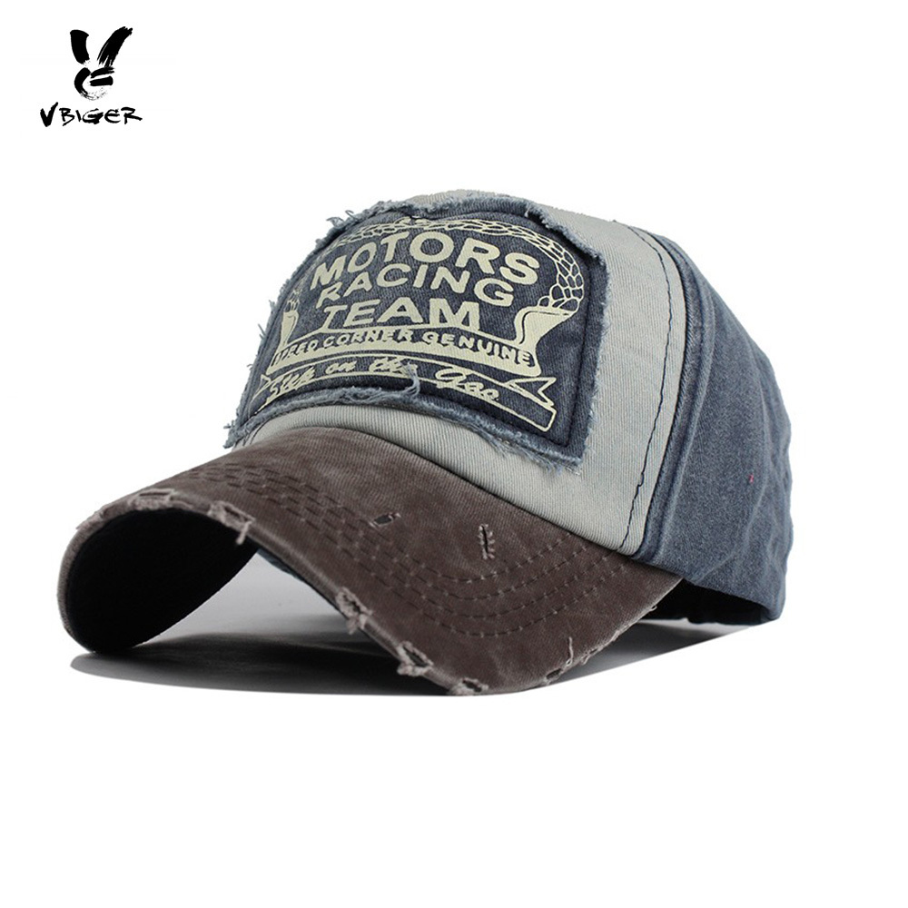 VBIGER Men Women Ripped Denim Baseball Cap Distressed Cotton Baseball Sun  Hat Chic Peaked Hat Baseball Cap 444d5f0a7ec