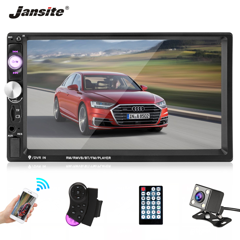 Jansite 7 1080P FHD Car Radio MP5 player DVD Digital Touch screen Bluetooth FM Function 2din