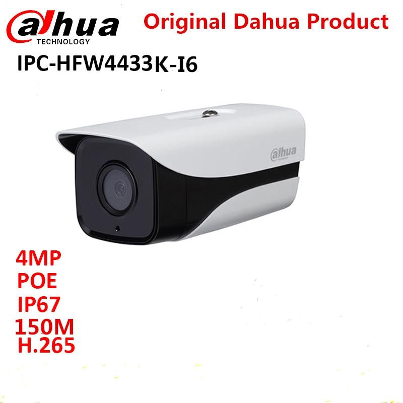 Dahua 4MP ip camera IPC-HFW4433K-I6 Starlight Camera support POE IP67 IR150M DH-IPC-HFW4433K-I6 cctv camera