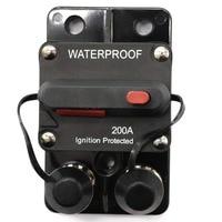 200 Amp Circuit Breaker Trolling with Manual Reset, 12V 48V DC, Waterproof