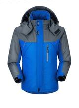 2018 New Men Thicken outwear super warm Coat Winter Climb Mountain Jacket Hooded male Parkas Windproof plus size jackets