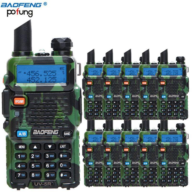 10 pcs/lot Baofeng UV-5R Amateur Radio Portable Talkie Walkie UV5R 5 w vhf/uhf CB Ham Radio 128CH UV 5R Dual Band Two Way Radio