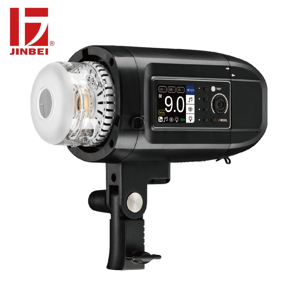 JINBEI HD-400Pro 400W Outdoor Portrait Flash with Magnetic Reflector Kit HSS TTL Battery Powered Strobe Monolight Bowens Mount