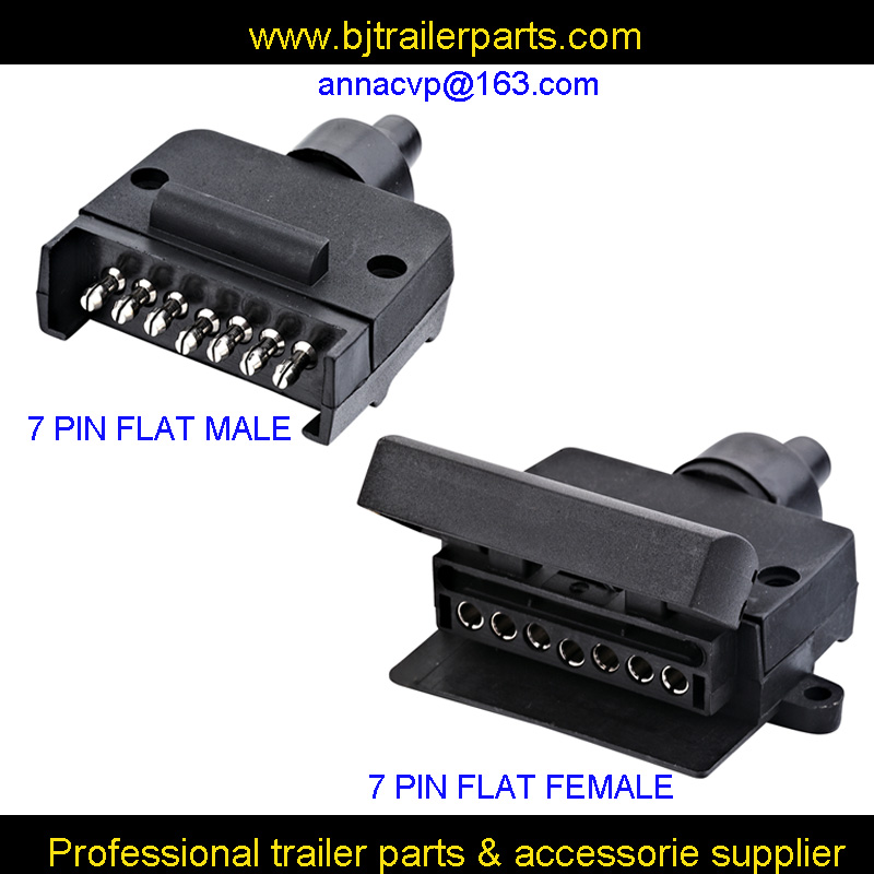 7-Flat Pin Trailer//RV Male Socket Connector