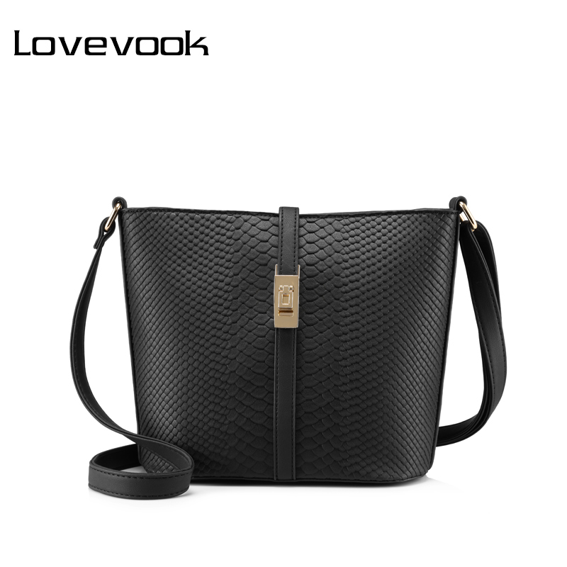 LOVEVOOK brand fashion women messenger bag female zipper shoulder bag large capacity alligator print crossbody bag Pink/Blue