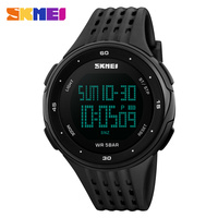 Skmei luxusmarke männer sportuhren 50 mt wasserdichte digital led military watch männer casual outdoor elektronik armbanduhren