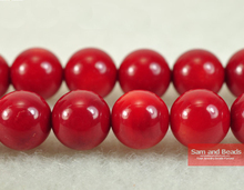 Free Shipping Natural Red Coral Beads 15.5″ Pick Size 4 6 8 10mm For Jewelry Making RCB01