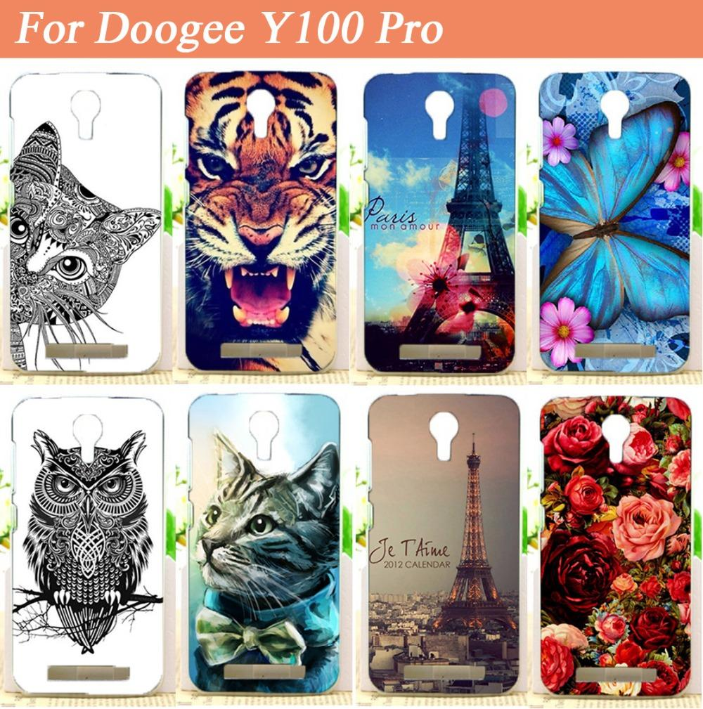 Hot Soft TPU <font><b>Doogee</b></font> <font><b>Y100</b></font> <font><b>Pro</b></font> case Cover,Fashion Diy 3d Painted tiger owl flowers Protector Case Cover For <font><b>Valencia</b></font> <font><b>2</b></font> <font><b>Pro</b></font> image
