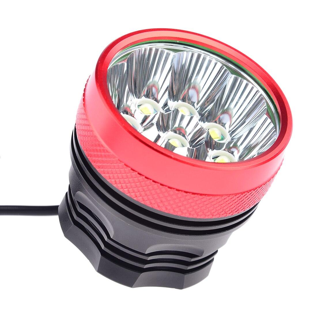 Accessoires de vélo 9x Cree XML T6 LED 7200 Lumen vélo lumières vélo avant lumière et phare phare batterie 7200 mAh - 2