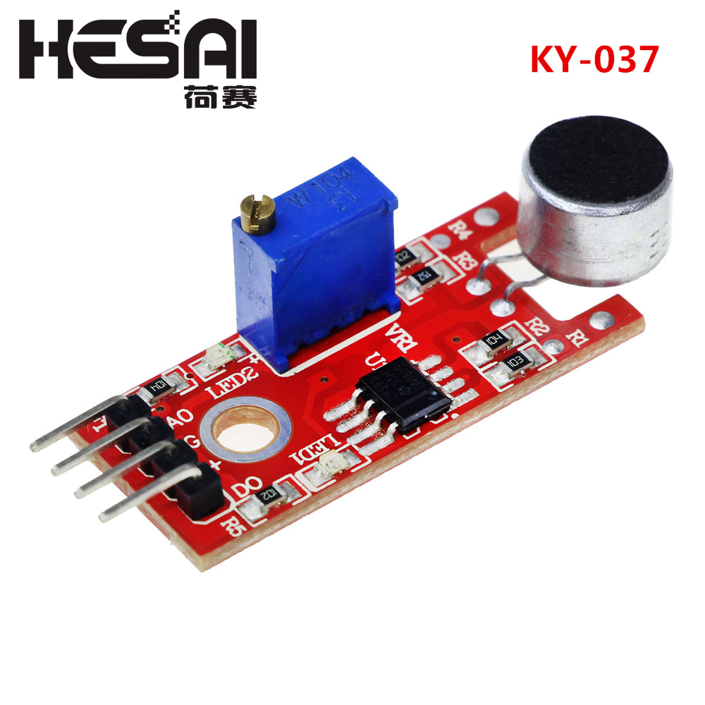 KY-037 New 4pin Voice Sound Detection Sensor Module Microphone Transmitter Smart Robot Car For Arduino DIY Kit
