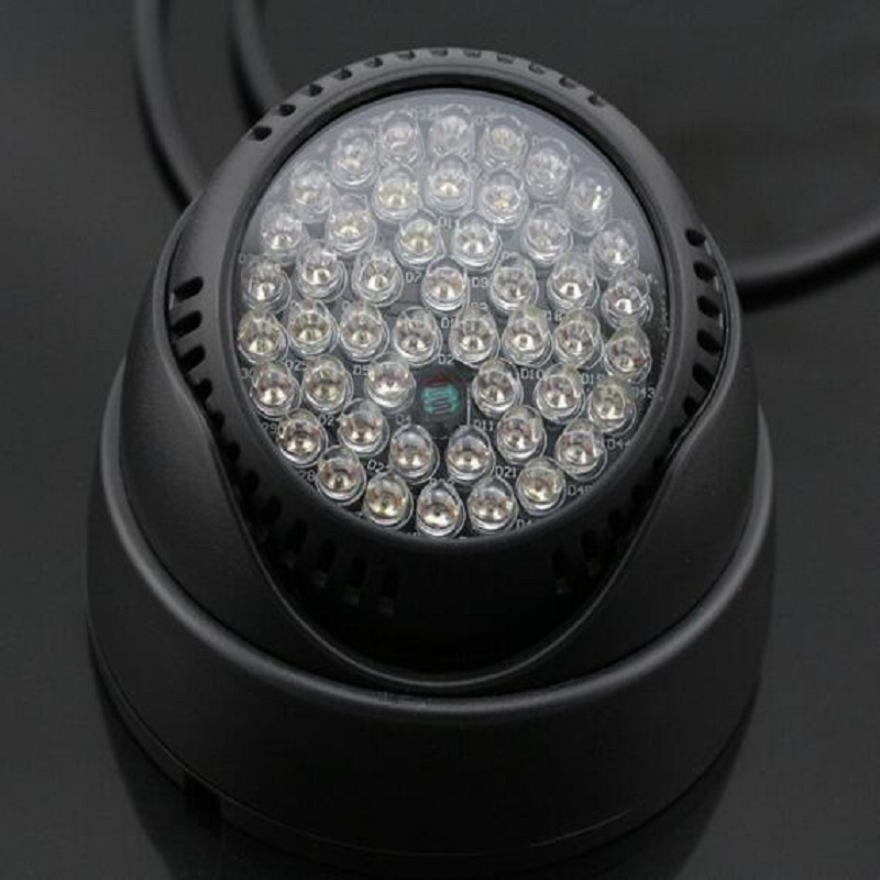 Mini Dome 48PCS IR LED Infrared Illuminator Light Outdoor Night Vision Assist LED Lamp For CCTV Security Camera Fill Lighting 4 in 1 ir high speed dome camera ahd tvi cvi cvbs 1080p output ir night vision 150m ptz dome camera with wiper