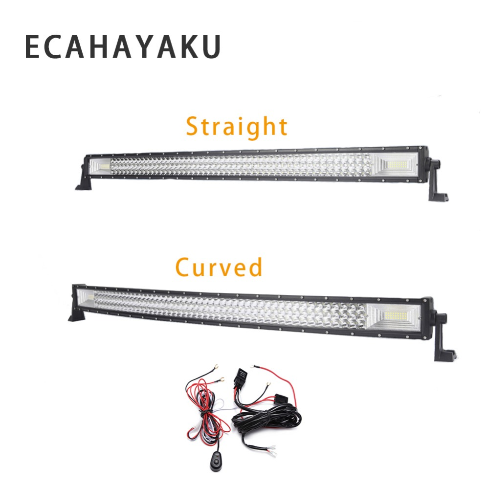 hight resolution of ecahayaku 3 row 22 inch 324w straight curved led light bar 2m wiring harness off road combo beam led work light bar 12v 24v dc