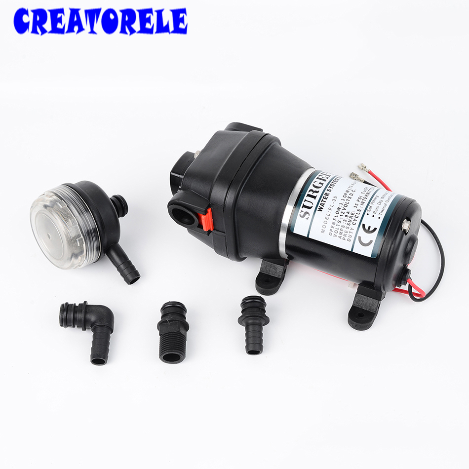 FL-34 FL-35 Miniature 12v/24v dc 120W low Electric Diaphragm pump 20m lift Submersible High Pressure water pumps self-priming fl 40 fl 44 12v 24v dc mini submersible low electric diaphragm pump 25m lift high pressure water pumps self priming