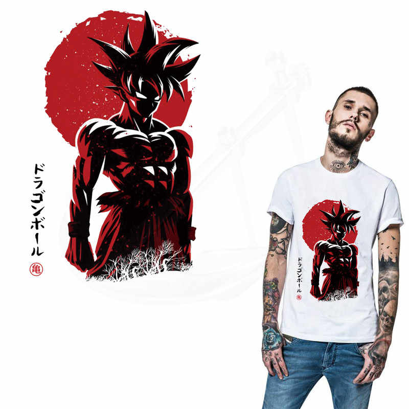 Hot Anime DRAGON BALL parches para ropa DIY camiseta Sudadera con capucha ropa Kakarotto parches termoadhesivos transferencia