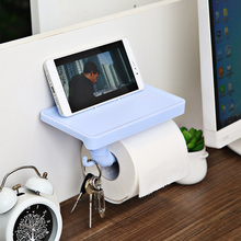Toilet Rack Bathroom Paper Mobile Phone Holder With Shelf Towel Tissue Boxes