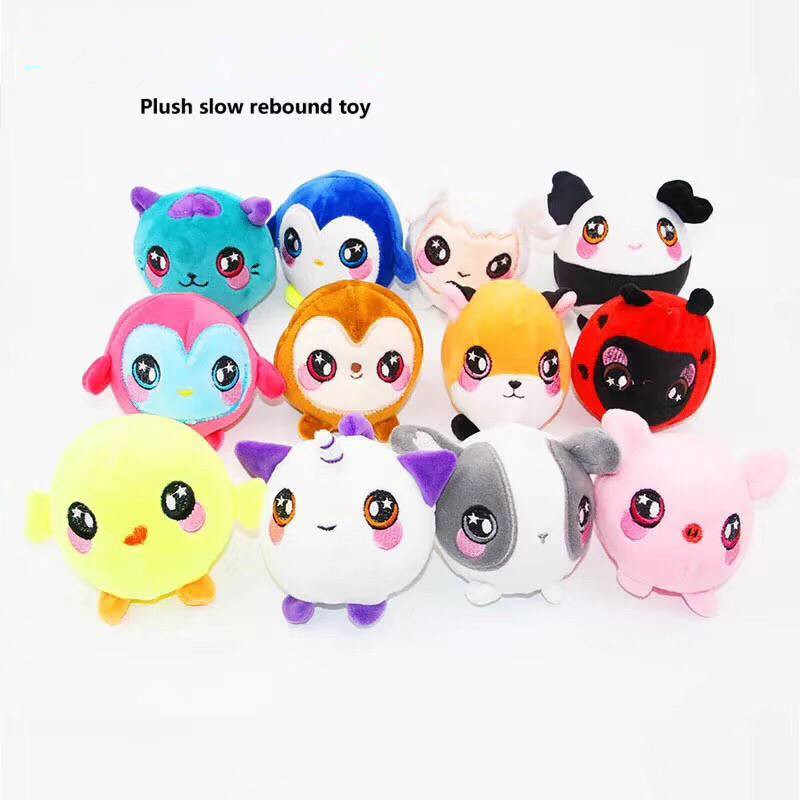 Plush Bear Animals Squishy Slow Rising Kawaii Squish Toy for Kids Anti Stress Reliever Decompression Squeeze Relief Child Toy