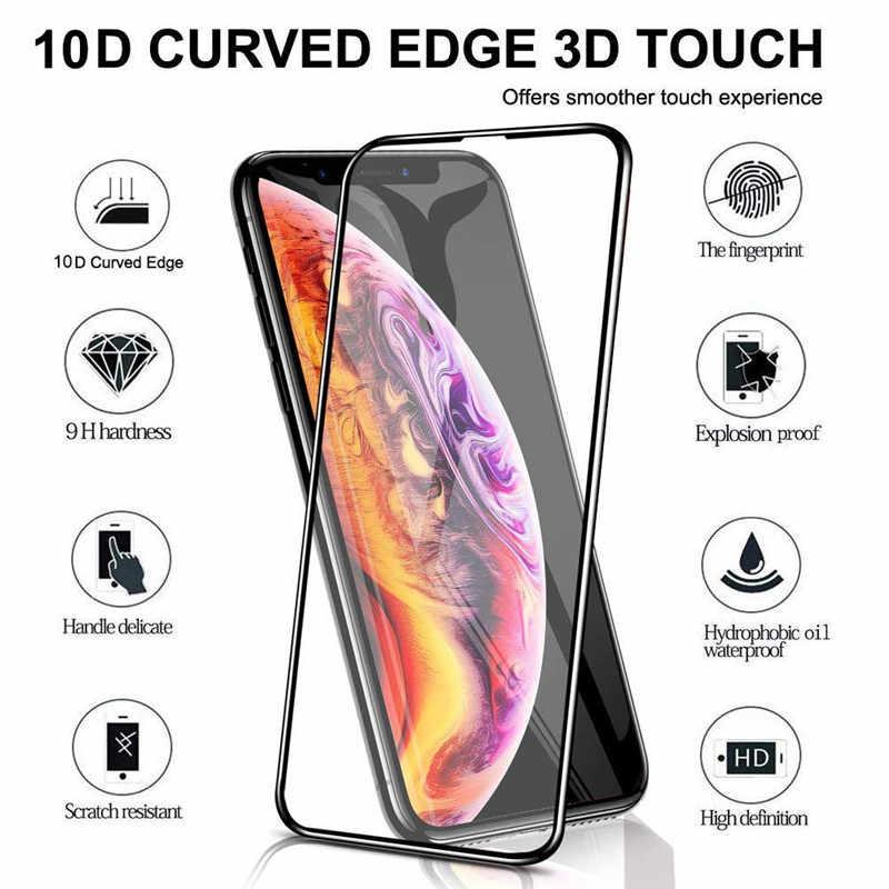 802843e7d49 10D vidrio para iPhone XS Max XR X 7 8 Plus de película Protector de  pantalla