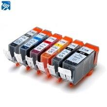 18PK PGI 520 Cli 521 Compatibele Inkt Cartridges Voor Canon IP4600 MP540 MP980 MX860 Printer Met Chip Volledige Inkt PGI520 Gy