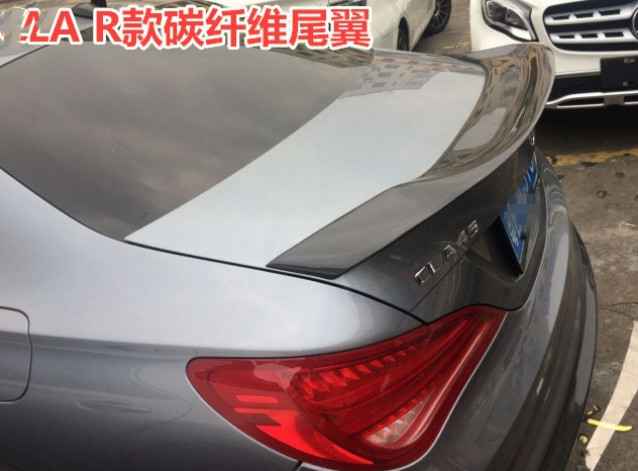 For benz CLA Spoiler CLA45 W117 C117 Carbon Fiber Rear Trunk Wings Spoiler cla 200 250 260 Renntech style 2013 2018