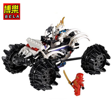 174pcs Bela Ninja Skull Undead War chariot Minifigure Building Block Kids Toys Ninjagoed