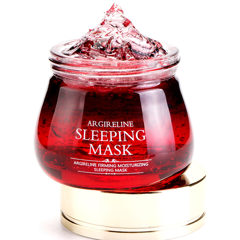 Six Peptide Facial Sleeping Mask Whitening Moisturizing Hydrating Brightening Jelly Mask Face Skin Care