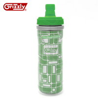 NEW Arrival Sports Thermal Water Bottle 600ml Double Color BPA Free For Outdoor Sports School Drinking