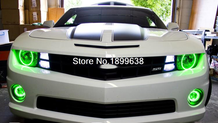 7-Color RGB Multi-Color LED Angel Eyes Kit with a remote control For Chevrolet Camaro 2010 2011 2012 2013 for chevrolet camaro 2010 2011 2012 2013 excellent angel eyes kit multi color ultrabright rgb led angel eyes halo rings