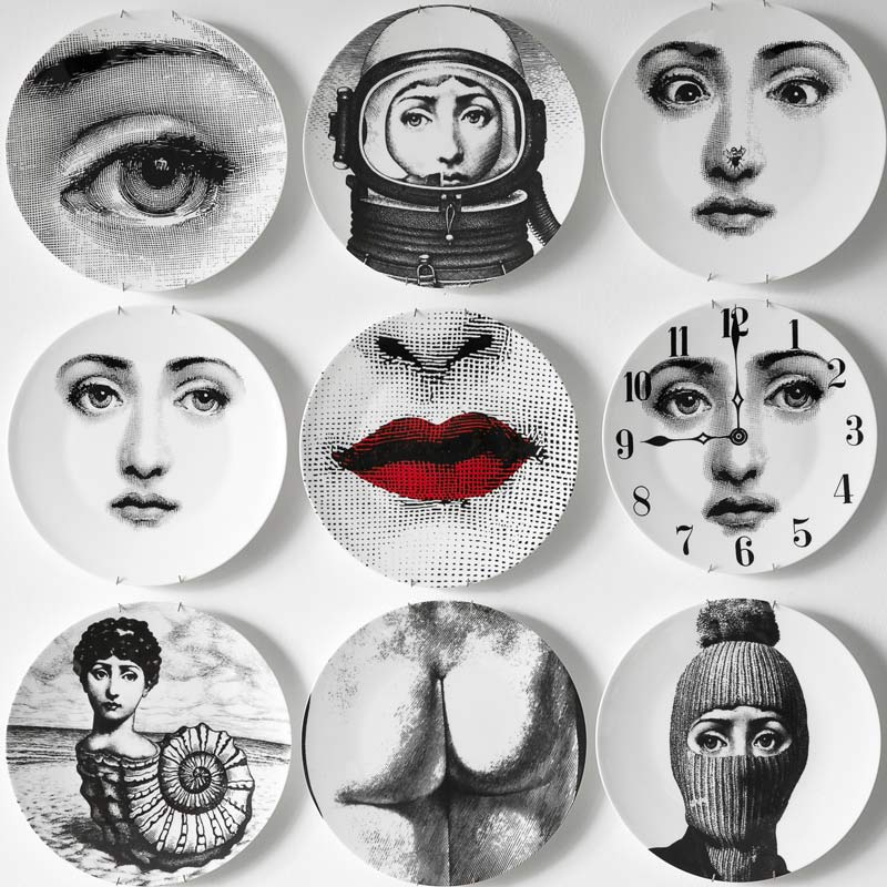 810inch utenos fornasetti plates home decoration christmas decoration dinner plate decorative wall - Decorative Wall Plates