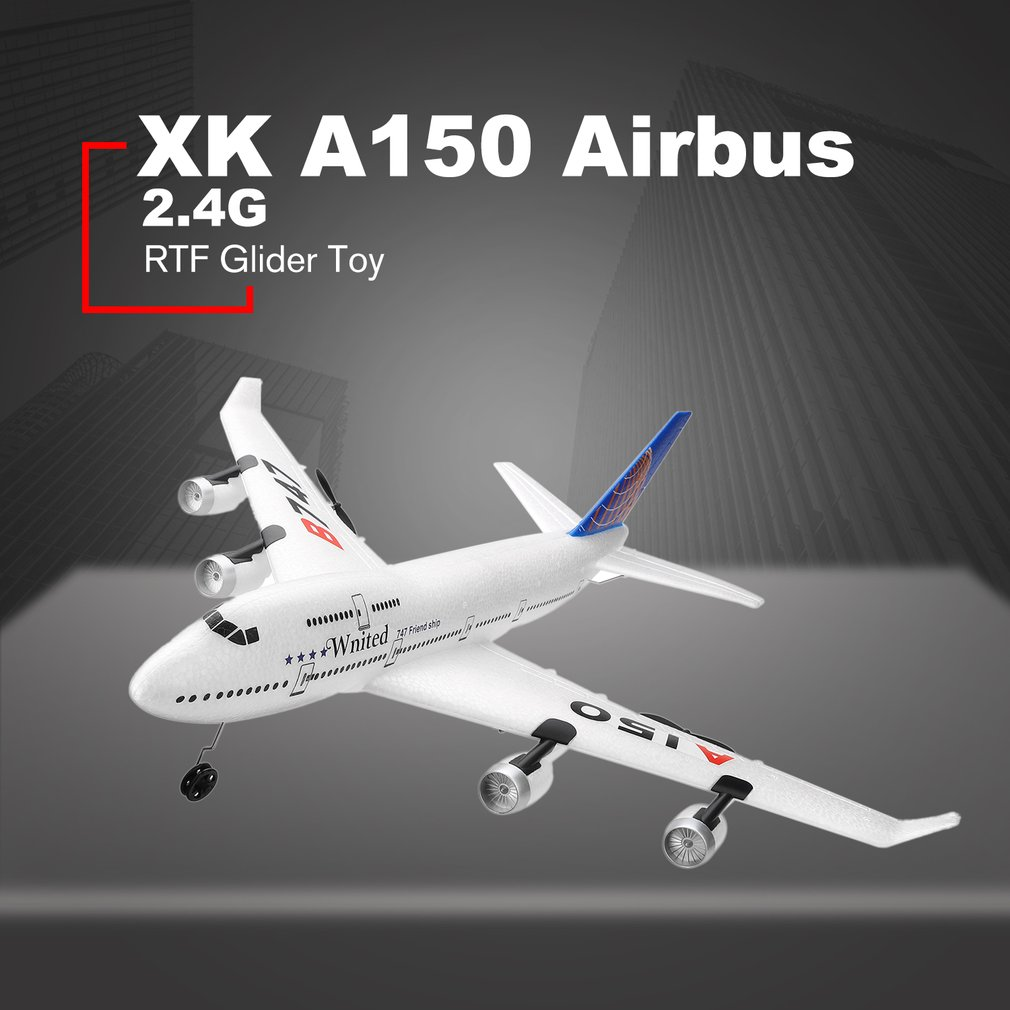 RC Fixed-wing XK A150 Airbus B747 Model Plane 3CH EPP 2.4G RC Remote Control Airplane Short Charging Time RTF Glider Toy(China)